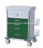AG-GS008 최고 판매 Ss 응급 의료 트롤리 장비 기능