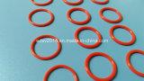 Joint circulaire rouge d'unité centrale de joint circulaire de silicium de Vmq de silicones