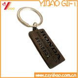 Chaîne principale en métal d'émail d'époxy de /Green de trousseau de clés bleu fait sur commande en métal avec Keyholder de pour le trousseau de clés en métal de propriétaire de véhicule (YB-KC-KR-04)