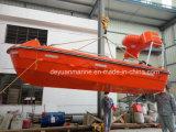 Solasの単一アームダビットが付いている速い救助艇