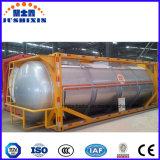 Envase líquido venenoso corrosivo químico del tanque de la ISO del acero de carbón del precio bajo