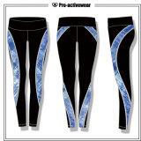 Pantalones de encargo al por mayor de la yoga de la gimnasia de mujeres de la sublimación del OEM