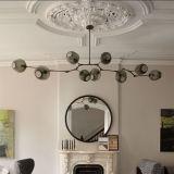 Lampadario a bracci semplice creativo della sfera di vetro per l'indicatore luminoso del pendente della sala da pranzo
