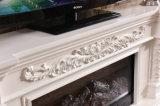 Fernsehapparat-Standplatz-europäischer schnitzender Heizungs-Kamin für Wohnzimmer (320SS)