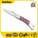 Verrouiller la poignée en bois de rose de plein air Mini Multi Camping Couteau de poche de pliage