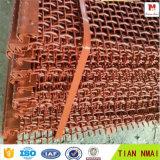 専門の工場でなされる引っ掛けられたひだを付けられた金網