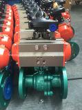 Válvula de esfera flangeada com atuador pneumático