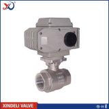 Шариковый клапан DIN Pn63 2PC фабрики продетый нитку нержавеющей сталью