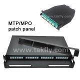 1uラックマウントの光ファイバ滑走MPO/MTPパッチ・パネル
