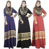 Fuchsia шифоновое платье Дубай длиннее Evenning для мусульманской женщины