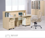 Büro-Sekretär-Empfang-Schreibtisch mit zwei beweglichen Schränken