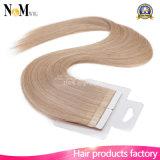 """20 """"毛の皮のWeft人間の毛髪の拡張100%ブラジルの人間の毛髪のまっすぐな部分の50g 100g 613#ブロンドのRemyのテープ"""