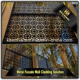 Villa décoration de jardin enduit de poudre de métal découpé au laser Panneaux de clôture de jardin en aluminium