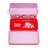Hallo Miezekatze-Doppelt-Gedeckter Briefpapier-Zinn-Kasten-Metallbleistift-Kasten