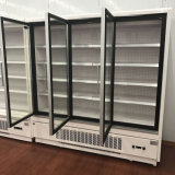 Supermercado Dairy Beverage Sausage Display Glass Door Display Showcase Chiller