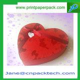 Boîte cadeau en bois de Noël OEM Boîte en forme de coeur en chocolat