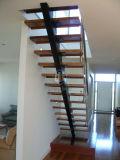 Escalera recta de madera/escalera de interior/escalera interior
