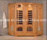 Sauna infravermelha de madeira maciça com tamanho personalizado (AT-0929)
