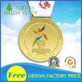 Medaille van de Sport van het Metaal van de Toekenning van de Legering van het Zink van het Ontwerp van de douane de Gouden