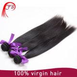 Trama 100% reta brasileira não processada do cabelo humano do Virgin