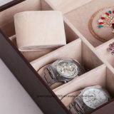 Boîte à bijoux Organisateur de rangement Anneau Boucle d'oreille Collier Cuir