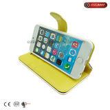 Caja del teléfono del cuero del estilo de los puntos/caso del iPhone 7