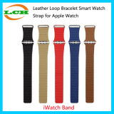 Loop de cuero pulsera de reloj elegante correa para Apple iWatch reloj Band 38mm y 42mm