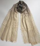 2017 écharpes visqueuses rayées tissées dégradantes de mode (HW 10)