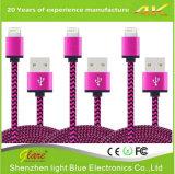 Cable trenzado de Venta caliente para el iphone