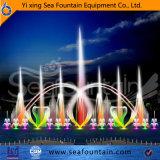 Fonte de música flutuante de cores ao ar livre