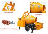 Pompe hydraulique de Concret de remorque de Moble avec le mélangeur de tambour (JBT40)