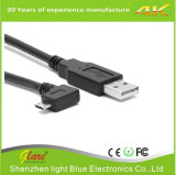 Cable de carga USB en ángulo recto 2A Micro
