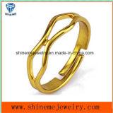 여십시오 반지 형식 유일한 스테인리스 금에 의하여 도금된 보석 반지 (SSR2772)를