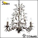 Lampada decorativa del ferro della stagnola operata del nastro