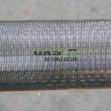 Entouré de fils et tuyau de l'écran de filtre sur le fil de l'écran de filtre en coin