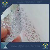 Etiket van het Bewijs van de Stamper van de Stamper van de douane het Nietige Duidelijke