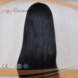 Высокое качество черный длинных волос человека кружевной Wig