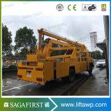 18m rechte Wannen-Luftarbeits-LKW des Laufwerk-200kg