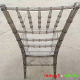 Resina de PC gris ahumado transparentes Sillas Tiffany Chiavari sillas Tiffany