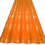 La couleur des panneaux métalliques en acier ondulé habillages de feuilles de toit