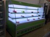 De gebogen ZijIjskast van het Grootwinkelbedrijf van het Fruit van het Glas met Digitaal Controlemechanisme