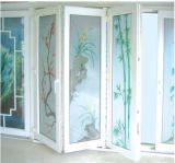 Vinil PVC económica Bifold Dobrável Porta Interior