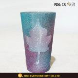 vaso di vetro della polvere di scintillio di vetro bevente della decorazione 16oz
