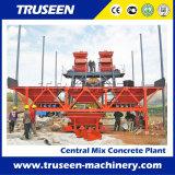 Завод машины 50m3/H конструкции здания конкретный смешивая