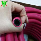 Les tuyaux à gaz de soudage Flex rouge et bleu le flexible hydraulique de jumeaux