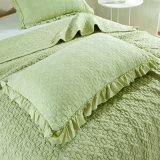 세척된 면에 의하여 누비질되는 침대 퍼짐, 누비질된 침대 덮개