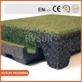 Плитка напольной спортивной площадки высокого качества резиновый/резиновый циновка настила
