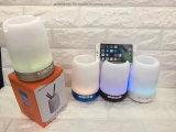 Mini Lámpara de luz LED Porta lápiz inalámbrico Bluethooth doble Altavoz para PC Phone