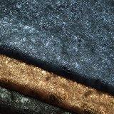 Vereiteltes heißes GoldstempelnFauxleatherette-Polyurethan-lederner Schuh-Gewebe