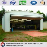 Panel de fibra de vidrio estructural de acero de calidad Hangar de helicópteros arrojar